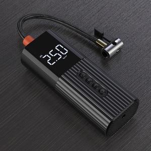 Image 3 - Neue Aufblasbare Pumpe Mini Tragbare Luft Kompressor mit LED Beleuchtung Reifen Inflator 12V 150PSI Draht Luftpumpe für Auto fahrrad bälle