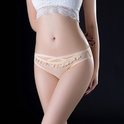 Women's Fashion Sexy panties Low-Waist Sexy Transparent Breathable Thongs Mesh Lace Seamless Silky Stretch High Quality G-thongs