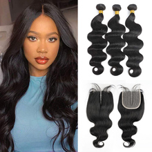 Body Wave Bundles With Closure Human Hair 3 And 4 Bundles With Hd Transparent Lace Closure Brazilian Hair Weaves Ms love