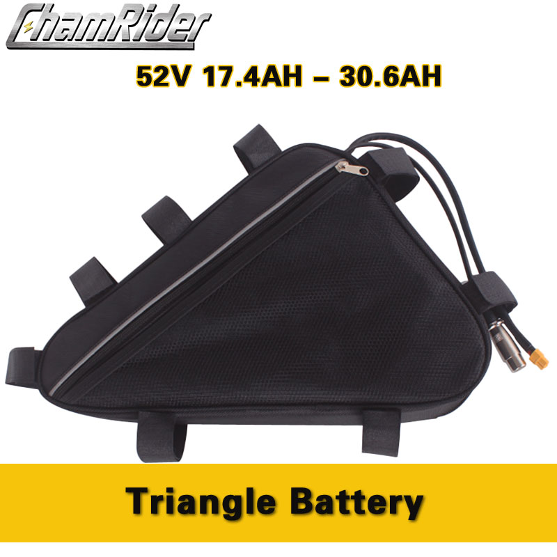 Chamrider Original electric bike <font><b>Battery</b></font> Triangle Frame Bag <font><b>52V</b></font> 20AH <font><b>30AH</b></font> 30A 40A BMS 500W 750W 1000W 1500W bafang EU TAX Free image