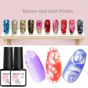 Transparent Nail Paint Blossom Gel Nail Art DIY Magic Flower Blooming Effect Gel Polish Soak off UV Nail Glue Draw Gel Varnish(China)
