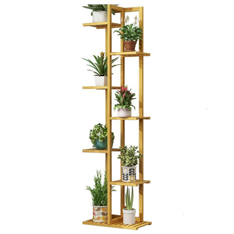 Madera Terraza Rack Indoor Plant Pot Balkon Living Room Varanda Saksi Standi Outdoor Dekoration Balcony Shelf Flower Stand