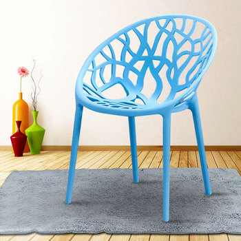 Net red nordic modern minimalist armrest back dining chair ins creative outdoor leisure hollow industrial wind chair