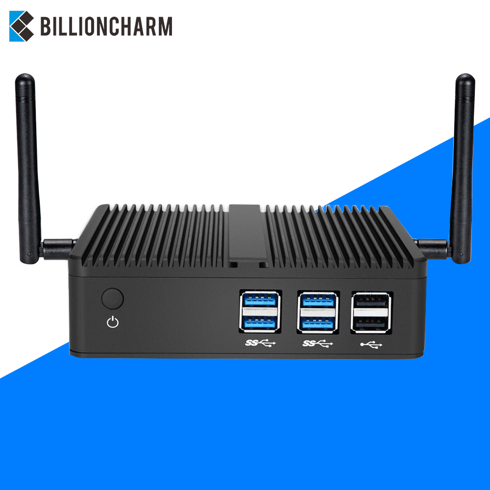 Fanless Mini PC Intel Core I7 4500U I3 4405U 4415U Computer HTPC Windows 10 7 Linux DDR 3 Micro Desktops Nettop NUC MINIPC TV