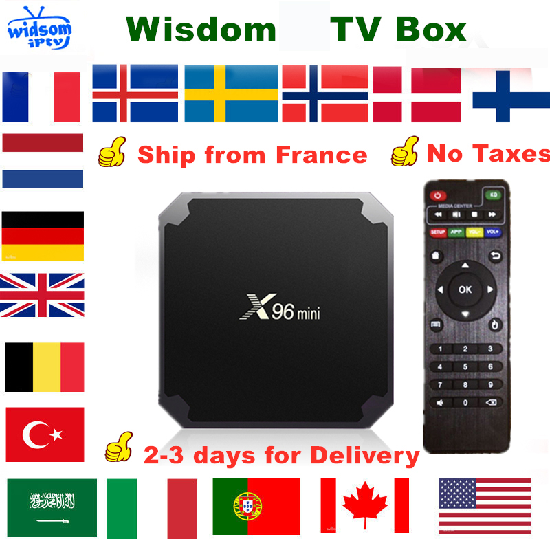 French  X96 Mini Smart Android TV Box  Subscription France Spain German Portugal UK Arabic Dutch Sweden Poland  M3U