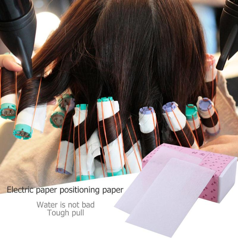 100 Sheets Salon Hair Perming Paper Hair Curler Salon High Temperature Resistant Blanching Perm Paper Electric Hair Paper Curls