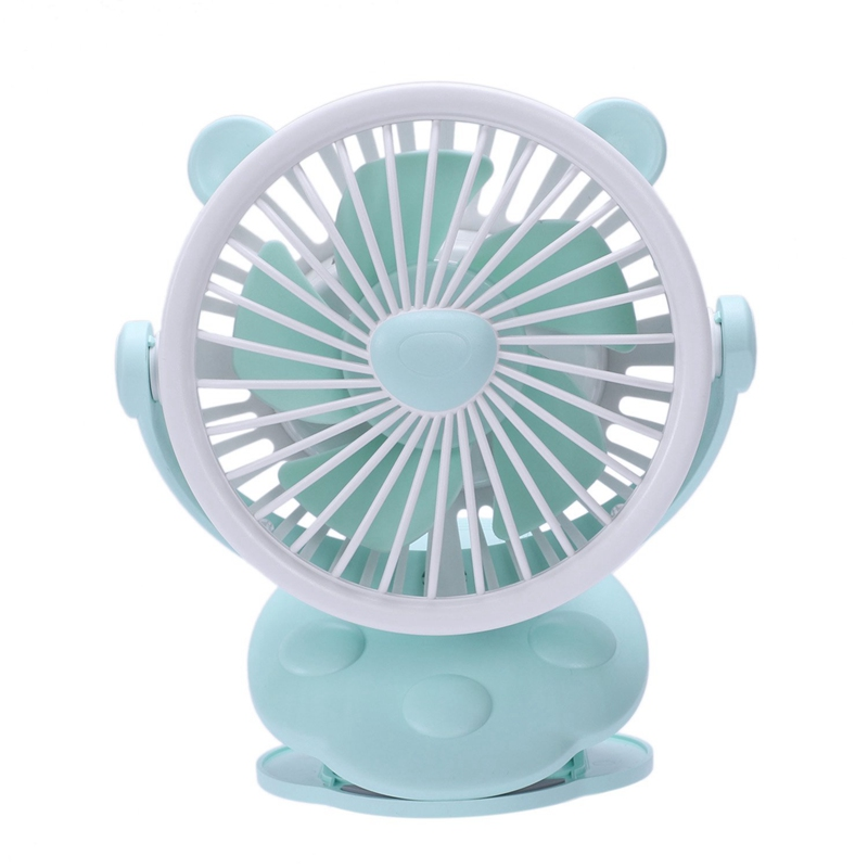 Mini Portable Clip On Fan Usb Rechargeable For Travel Stroller Outdoor Camping Baby Carriage Fan Desk Fan Green|Fans| |  - title=