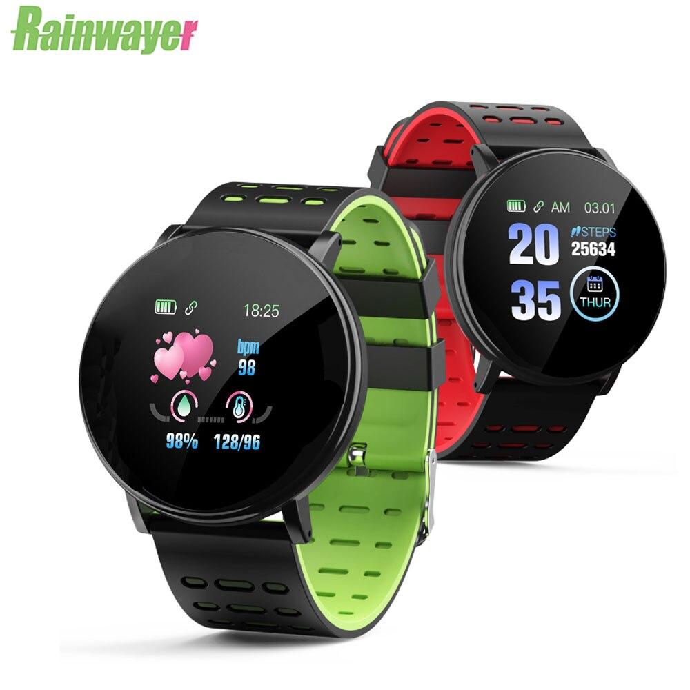 119Plus смарт-браслет с пульсометром спортивный Трекер Смарт-часы спортивный смарт-браслет для Android IOS Мужской Женский Смарт-браслет