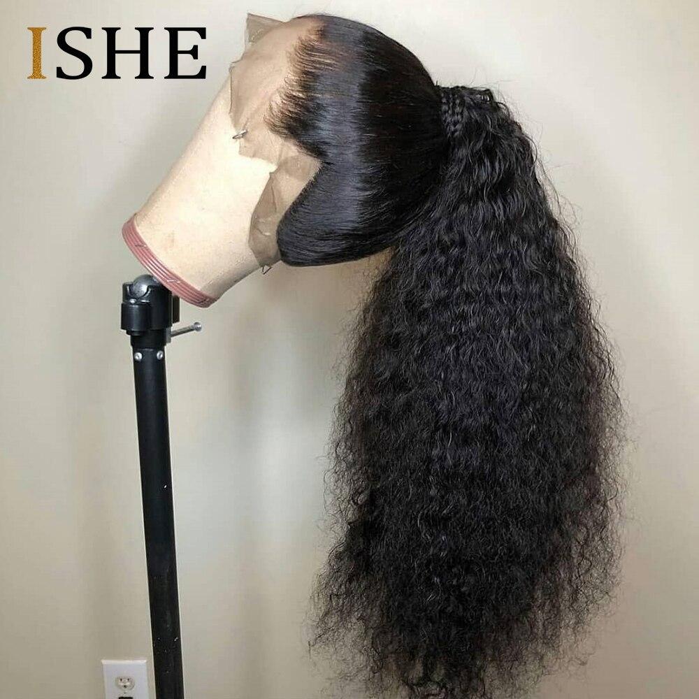 Peruca 360 frontal cabelo, novo, pré-selecionado, cabelo novo 250 densidade sem cola, cabelo encaracolado para mulheres negras, brasileiro cabelo remy,