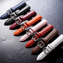 Pulseiras de relógio de couro pulseiras de relógio 12mm 14mm 16mm 18mm 20mm 22mm acessórios de relógio