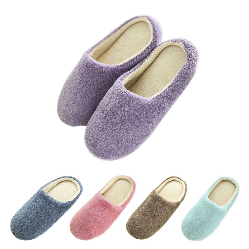 2019 Women Winter Warm Full Slippers Womens Slippers Cotton Sheep Lovers Home Slippers Indoor House Shoes For Woman 36-45