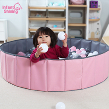 Infant Shining Ball Pits Folding Ball Pool Baby Dry Ball Pool Grey Pink Green Round Ball Pool Toys for Children Birthday Gift недорого