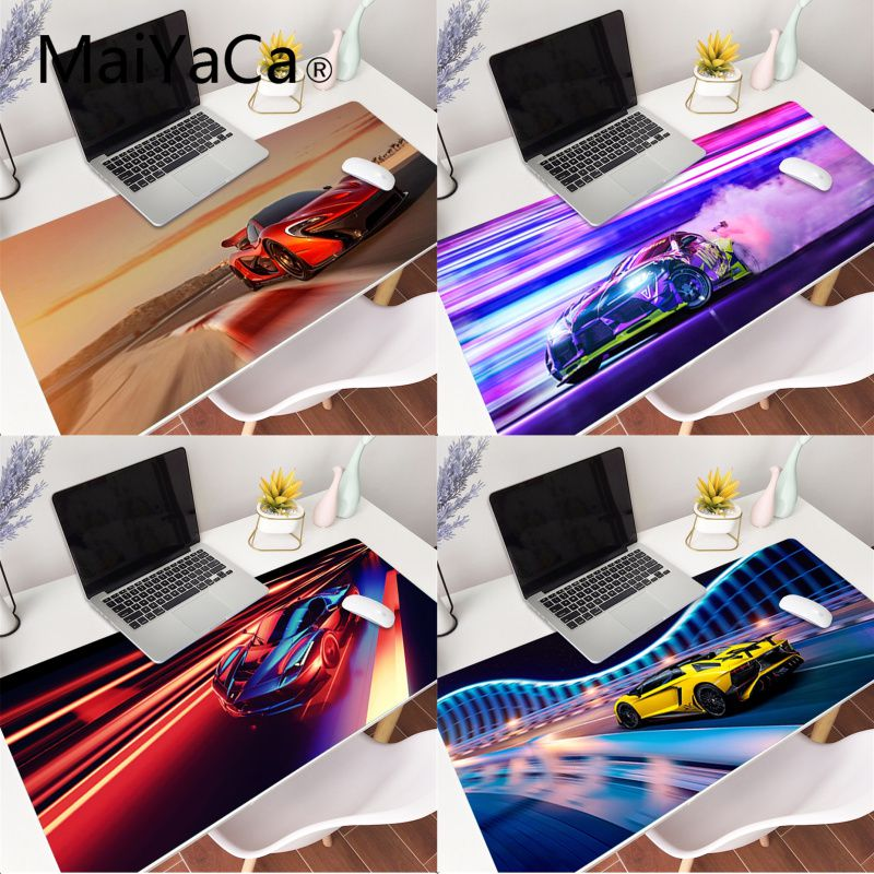 MaiYaCa Cool Sports Cars Rubber Pad to Mouse Game XXL Mouse Pad Laptop Desk Mat pc gamer completo for lol/world of warcraft image