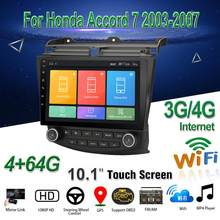 "Voor Honda Accord 7 2003-2007 Car Multimedia Speler 10.1 ""Android 8.1 Auto Radio Stereo Met Gps Bt wifi 3G/4G OBD2 Audio Video(China)"