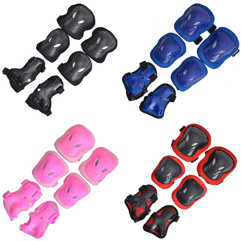 Skateboard Skating Safety Outfits Knee Elbow Hand Protect Thickened Pad Set