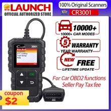 LAUNCH X431 CR3001 OBD2 스캐너 지원 전체 OBD II/EOBD 발사 Creader 3001 자동 스캐너 진단 PK CR319 ELM327 V1.5 v2.1