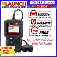 STARTEN X431 CR3001 OBD2 Scanner Unterstützung Volle OBD II/EOBD Launch Creader 3001 Auto Scanner diagnose PK CR319 ELM327 V 1,5 v 2,1