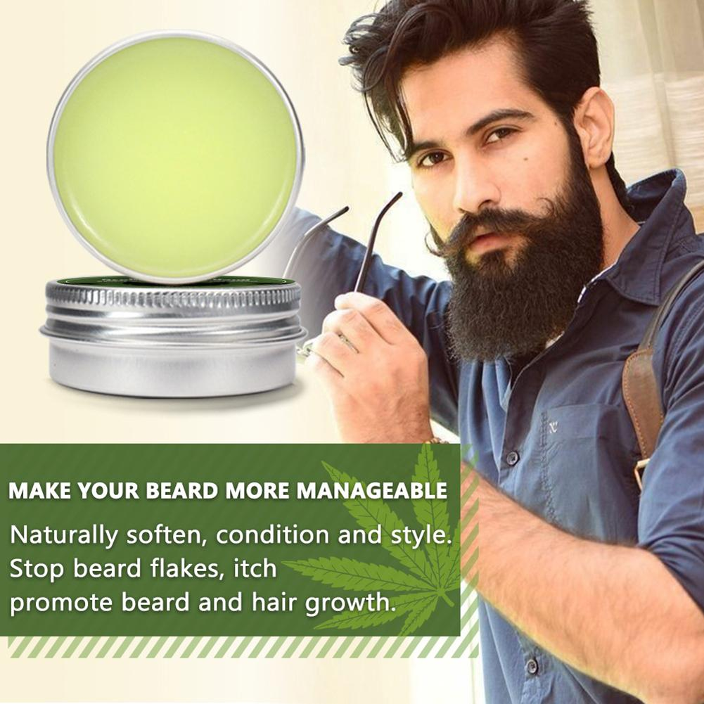 1Pc 30g 100% Organic Beard Oil Balm Moustache Wax Styling Beeswax Moisturizing Smoothing Gentlemen Beard Care Natural Beard Balm