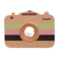 Wooden Tooth Storage Box for Baby Gift Camera Shape Deciduous Tooth Storage Box Organizer Milk Teeth Collect Organizer