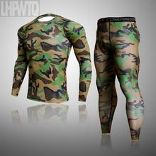 Thermal-Underwear-Sets Long-Johns Tights Men Winter New Bodybuilding Comfortable Fleece