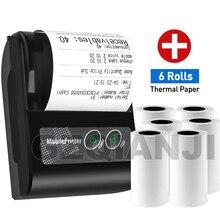 Мини Bluetooth принтер GZM5816 58 мм, беспроводной термопринтер, портативный USB принтер для подключения телефона на Android и iOS для ПК