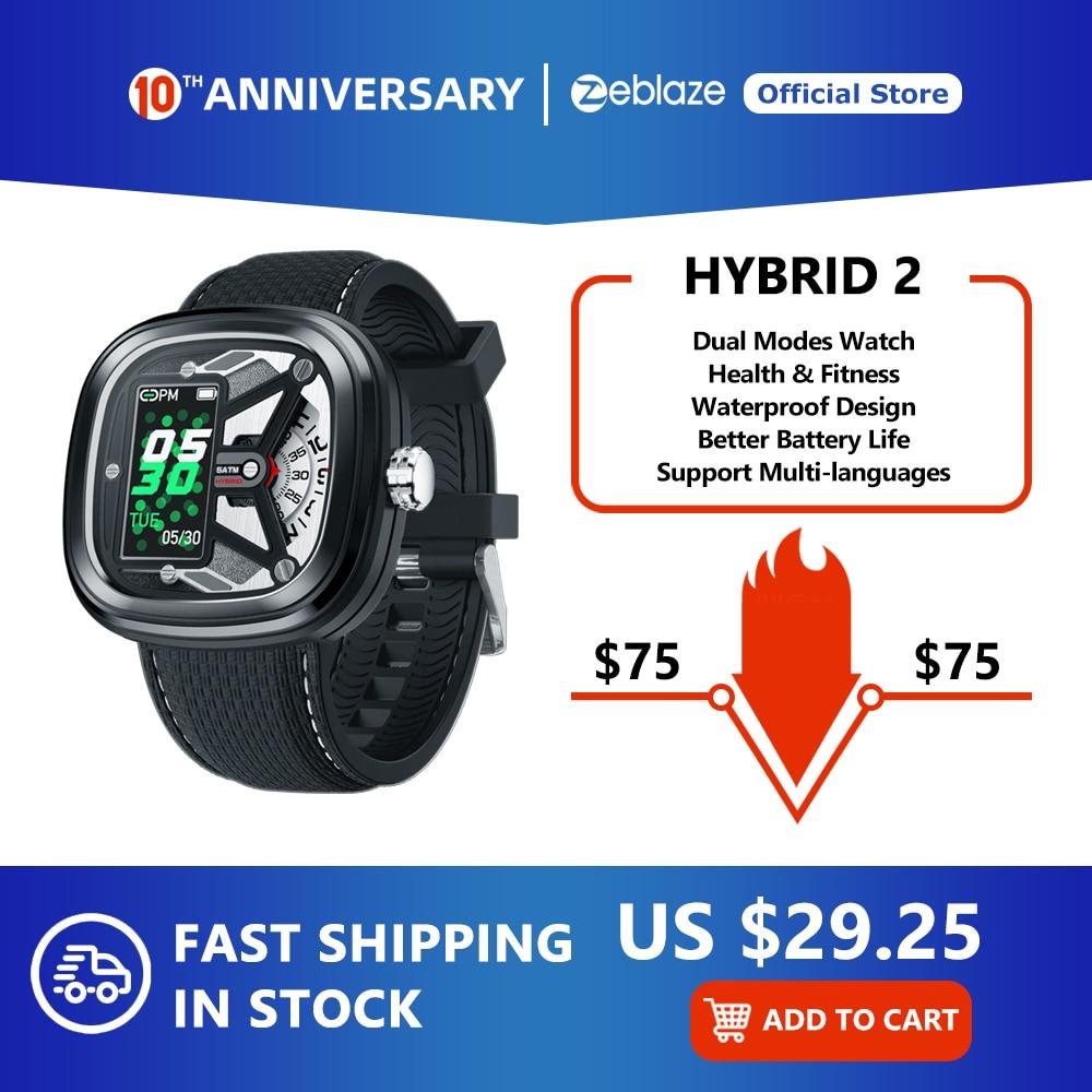 Zeblaze Hybrid 2 Smartwatch Heart Rate 50M Waterproof 0.96'' IPS Fashionable and Stylish Industrial Elements Long Battery Life|Smart Watches| |  - title=