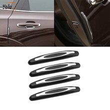 YOLU Car Styling Mouldings 4pcs Door Edge Guard Strip Scratch Protector Anti-collision Corner Bumper Protective Strip недорого