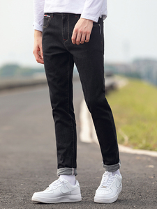 Image 2 - Pioneer Camp Mens Black Jeans Classic Autumn High Quality Pants Casual Straight Denim Trousers Male 2020 ANZ908219A