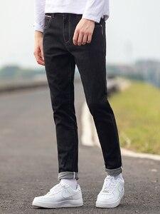 Image 2 - Мужские классические джинсы Pioneer Camp, черные повседневные Прямые брюки из денима, осень 2020, ANZ908219A