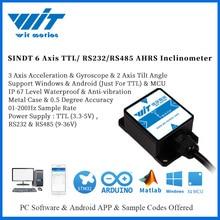 WitMotion SINDT IMU 2 осевой датчик цифровой угол наклона Инклинометр (шаг рулона) и IP67 водонепроницаемый и анти вибрация на Android/PC/MCU