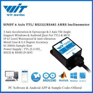 Image 1 - WitMotion SINDT IMU 2 осевой датчик цифровой угол наклона Инклинометр (шаг рулона) и IP67 водонепроницаемый и анти вибрация на Android/PC/MCU