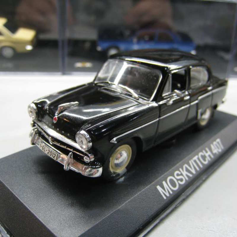 1:43 Static Model Classic Soviet Union Russia MOSKVITCH 407 Taxi Alloy Car Van Model Toys Diecast For Collection Gifts