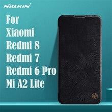 シャオ Xiaomi Redmi 8 7 6 Pro プロフリップケース Nillkin 秦ヴィンテージ革フリップカバーカードポケットケースシャオ Xiaomi mi A2 Lite 電話バッグ