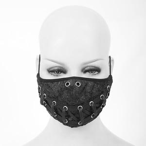 Image 2 - Devil Fashion Steampunk Men And Women Black Rivet Mask Anti dust Cosplay Party Mask Adjustable Earhook Halloween Mask
