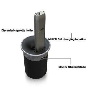 Image 1 - Pour iqos 3 duo chargeur de voiture pour Iqos 3.0 Charge rapide pour Iqos Multi 3.0 support de Charge Dock en alliage daluminium type c Design cendrier