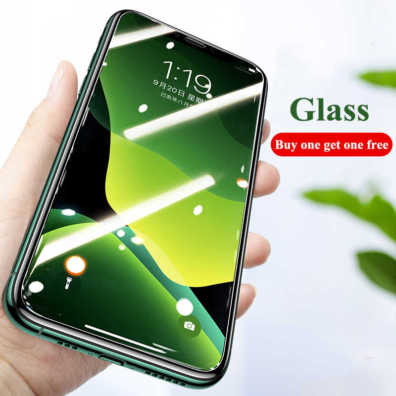 9H زجاج واقي ل iPhone 11 Pro 7 8 6 6S Plus X XS Max XR 5 4 واقي للشاشة المقسى ل iPhone 11 Pro Max Glass