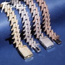 TOPGRILLZ Bracelet cubain à fermoir Miami, 16 et 18mm, épines de fermoir, bijoux cubains, cadeau, 16 et 18 mm