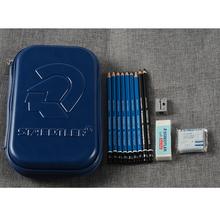 STAEDTLER 100SET3 szkic kombinezon kombinezon niebieski pręt czarny trzonek długopis karbonowy miękki plastik węglowy guma profesjonalny atystyczny dostaw tanie tanio DE (pochodzenie)