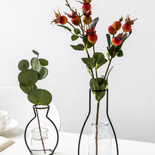 Flowers-Vase Iron-Line Plant-Holder Home-Art Nordic Modern Solid Retro Metal Art-Style