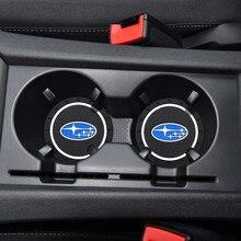 2 шт Автомобиль Подставка коврик для чашки для воды силиконовые эпоксидной Нескользящая подставка для Subaru FORESTER OUTBACK XV BRZ, автомобильные аксе...