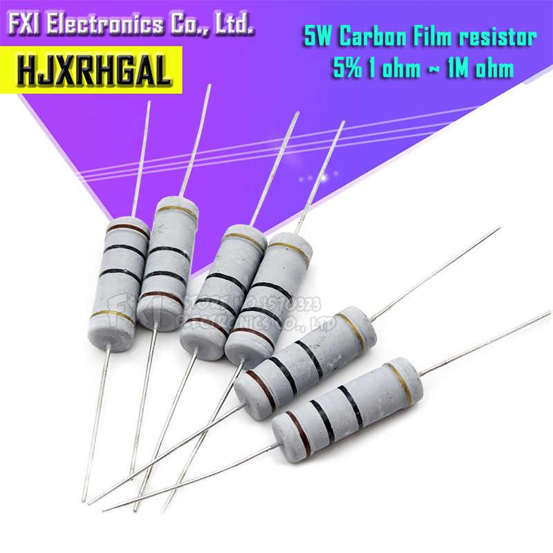 5 x 0.22R 0R22 Radial 5W Ceramic Resistor 5/%