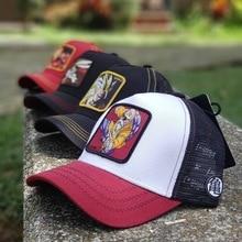 New Arrivals Hot Sell Cartoon Animal  Baseball Cap Men Women Snapback Hip Hop Cap Summer Breathable Mesh Trucker Hat Dad Hats