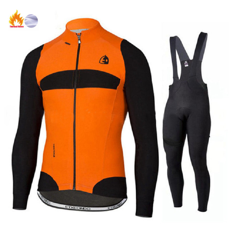 Winter Thermal Fleece Quality Etxeondo Cycling Jersey Long Set MTB Cycle Clothing Sportswear Mountain Bike Clothes ropa ciclismo