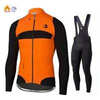 Winter Thermal Fleece Quality Etxeondo Cycling Jersey Long Set MTB Cycle Clothing Sportswear Mountain Bike Clothes ropa ciclismo