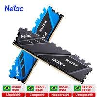 Netac pamięci RAM DDR4 16gb 8 gb pamięci RAM DDR4 3200mhz DDR4 RGB 3600mhz 2666mhz XMP 288pin dla płyty głównej AMD