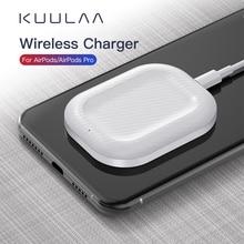Bluetooth наушники зарядная док-станция Qi Беспроводное зарядное устройство для быстрой зарядки с подставкой для Airpods Pro для Iphone Apple беспроводная ...