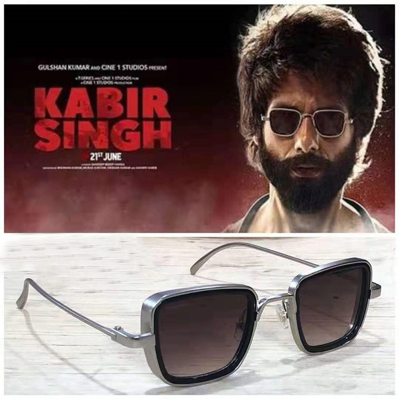 Мужские солнцезащитные очки KABIR SINGH, квадратные крутые очки Тони Старка в стиле стимпанк, мужские солнцезащитные очки uv400, 2020