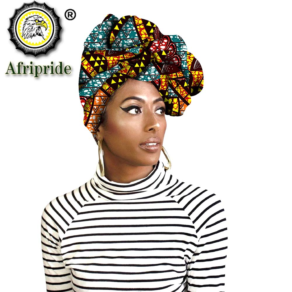 Fashion African Head Scarf Print Cotton High Quality Women African Clothing Bazin Rich Headwear Wax A18H002