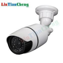 Fałszywy CCTV kamera typu bullet z Led światła wodoodporna odkryty kryty nadzoru bezpieczeństwa atrapa aparatu darmowa wysyłka w Kamery nadzoru od Bezpieczeństwo i ochrona na