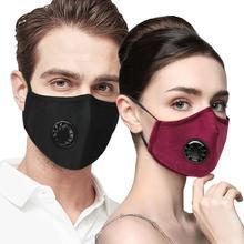 Анти PM2.5 дыхательная маска хлопок дымка клапан Анти-пыль Здоровье полости рта маска фильтр с активированным углем респиратор рот Муфельная маска